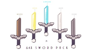Minecraft Cinema4D 64x Sword Rig