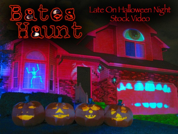 Late On Halloween Night Singing Pumpkins BatesHaunt HD Stock Video
