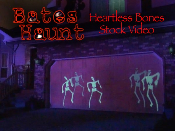 Heartless Bones Skeleton Dance BatesHaunt HD Stock Video