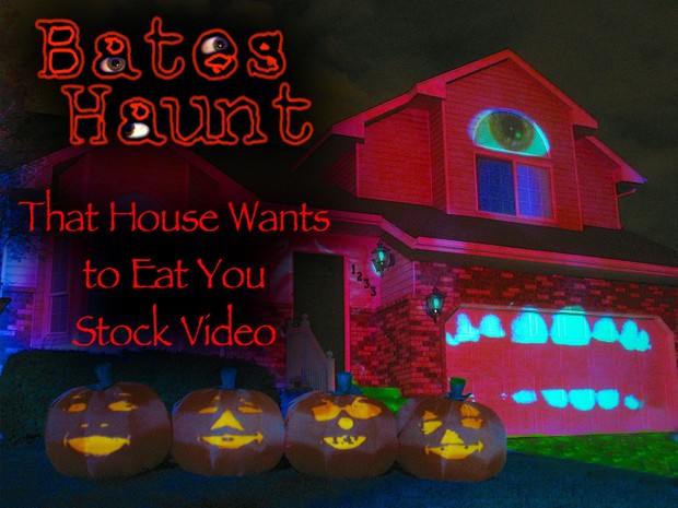 That House Wants To Eat You Singing Pumpkins BatesHaunt HD Stock Video