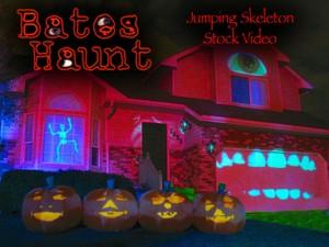 BatesHaunt Jumping Skeleton HD Stock Video