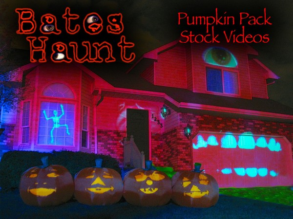 Pumpkin Pack - All The BatesHaunt Singing Pumpkin Songs HD Stock Video