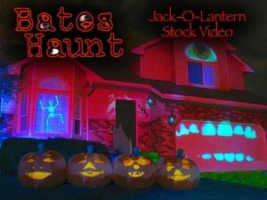 Jack-O-Lantern Singing Pumpkins BatesHaunt HD Stock Video