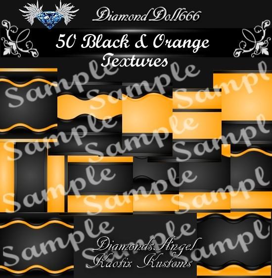 50 Black & Orange Textures