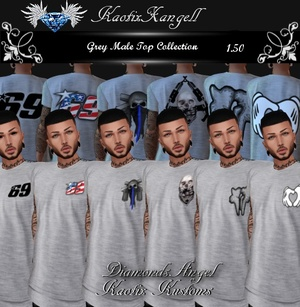 Grey Male Tops Collection