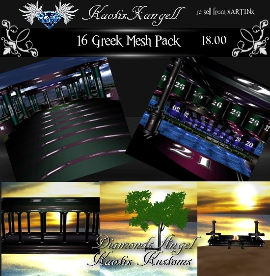 16 Greek Mesh Pack