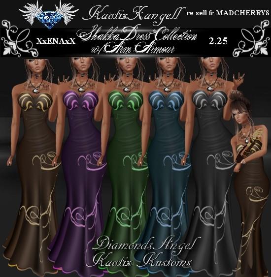 Shakka Dress Collection w/arm amour