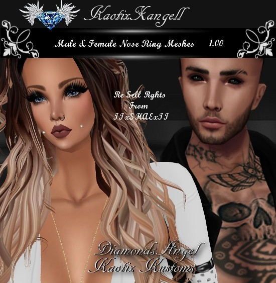 Male & Female Nose Ring Meshes