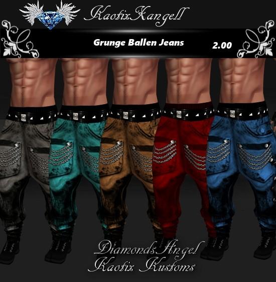 Grunge Ballen Jeans File