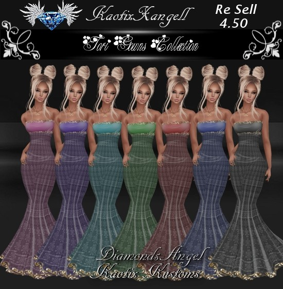 Tori Gowns Collection w/RE SELL RIGHTS