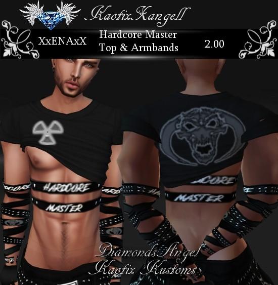 Hardcore Master Top & Armbands