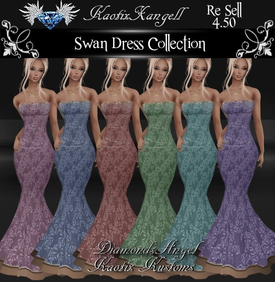 Swan Gowns Collection w/RE SELL RIGHTS