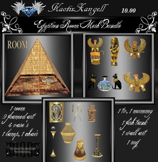 Egyption Room Mesh Bundle