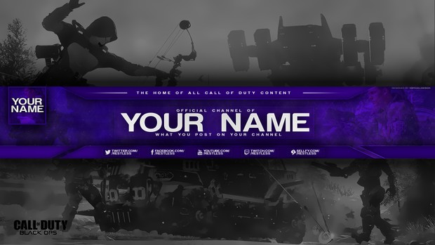 Call of Duty Youtube Banner | $0.90 SALE!