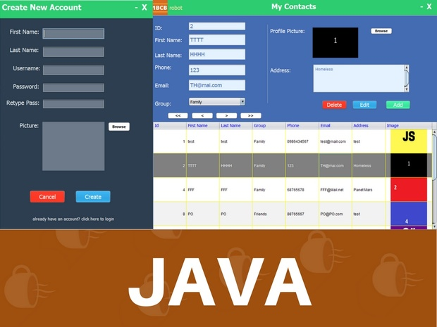 JAVA CONTACT INFORMATION MANAGEMENT SYSTEM SOURCE CODE