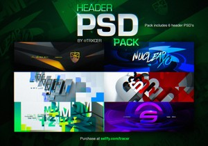 Header PSD Pack (6 PSD's)
