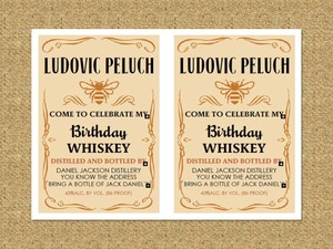 Invitación Jack Daniels honey, paga con paypal, descarga inmediata. / Party Invitation pdf editable