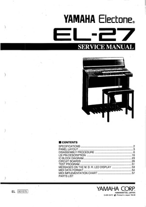 Yamaha EL27 Service Manual
