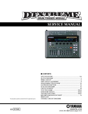 Yamaha DTXTREME Service Manual
