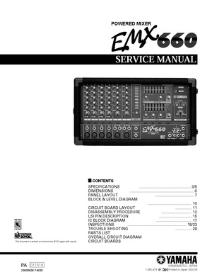 Yamaha EMX660 Service Manual