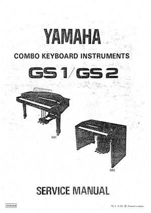 Yamaha GS1 GS2 Service Manual