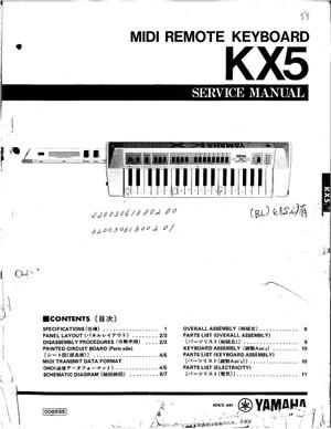 Yamaha KX5 Service Manual
