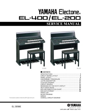 Yamaha EL200. EL400. Service Manual