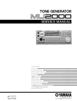 Yamaha MU2000 Service Manual