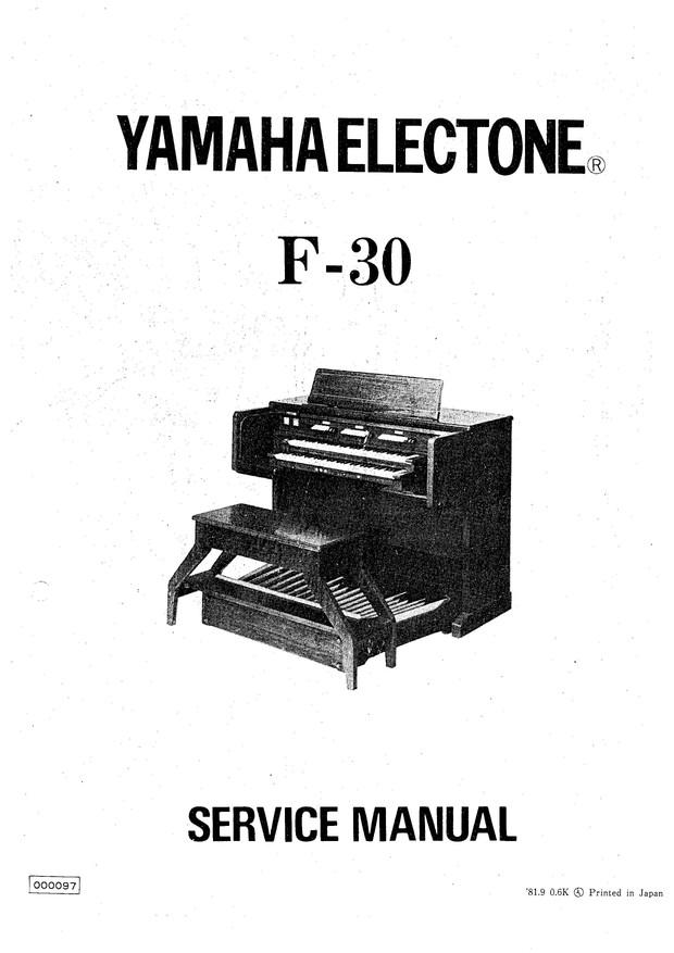 Yamaha F30 Service Manual