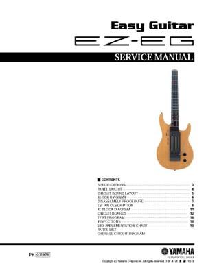 Yamaha EZ-EG Service Manual