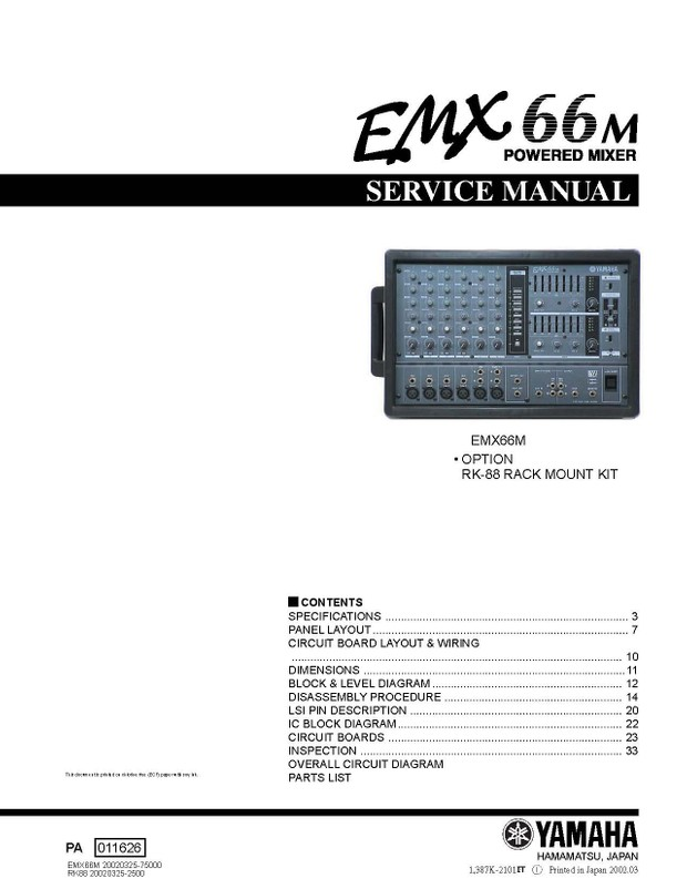 Yamaha EMX66M Service Manual