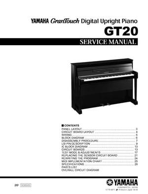 Yamaha GT20 Service Manual