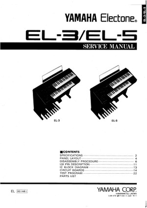 Yamaha EL3. EL5. Service Manual