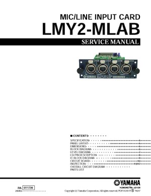 Yamaha LMY2-MLAB Service Manual