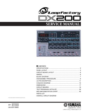 Yamaha DX200 Service Manual