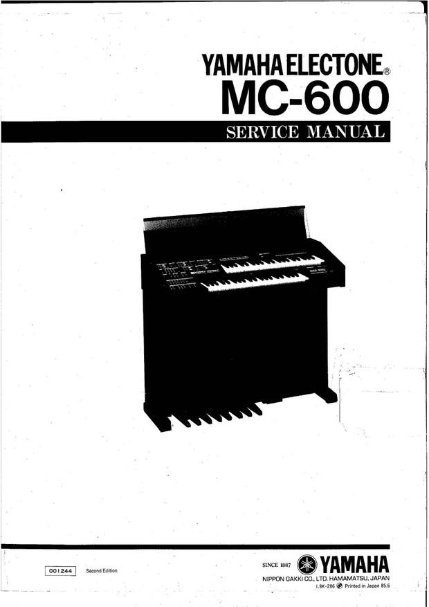 Yamaha MC600 Service Manual