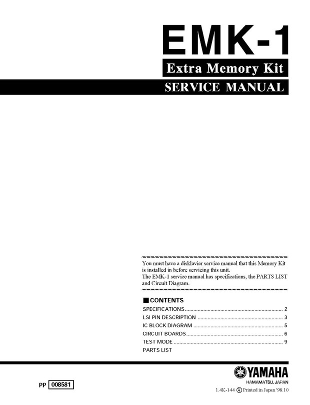 Yamaha EMK1 Service Manual