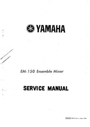Yamaha EM150 Service Manual