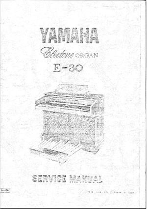 Yamaha E30 Service Manual