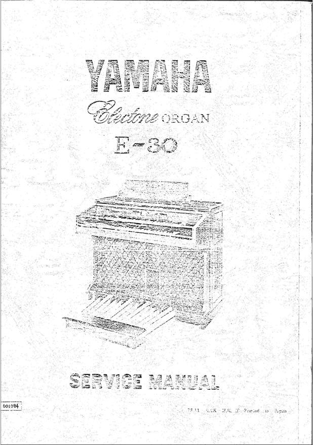 Yamaha E30 Service Manual