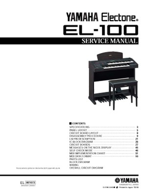 Yamaha EL100 Service Manual