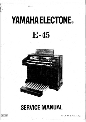 Yamaha E45 Service Manual