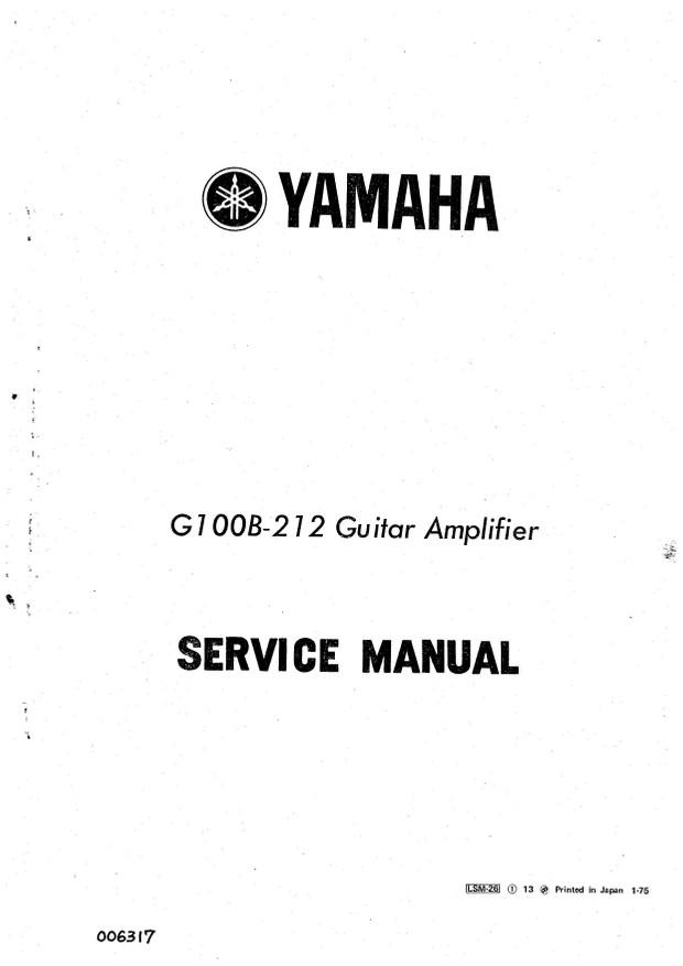 Yamaha G100B-212 Service Manual