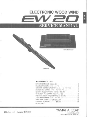 Yamaha EW20 Service Manual