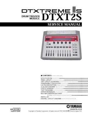 Yamaha DTXT2S. DTXTREME IIS. Service Manual