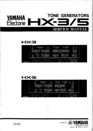 Yamaha HX3 HX5 Service Manual
