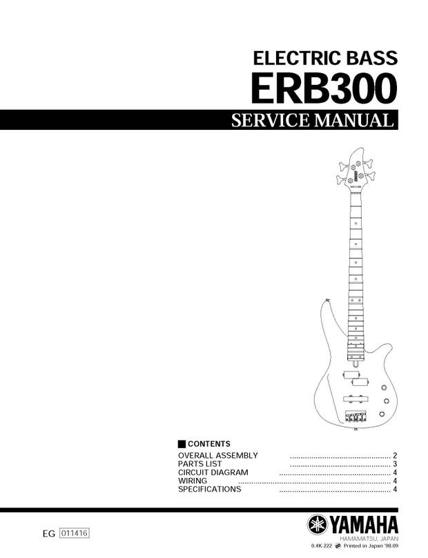 Yamaha ERB300 Service Manual