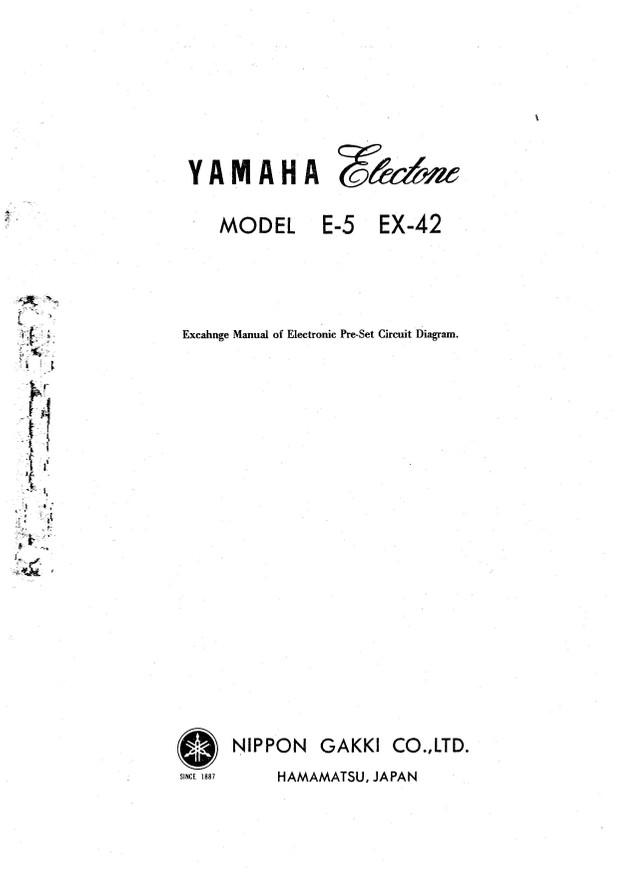 Yamaha E5 Service Manual