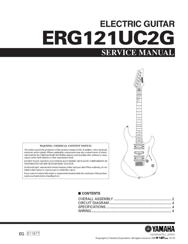 Yamaha ERG121UC2G Service Manual