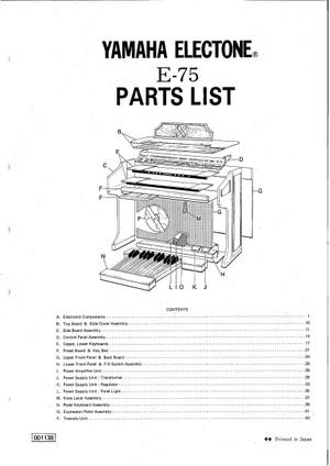 Yamaha E75 Service Manual
